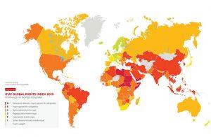 53 mördade på ett år – demokratin i global kris enligt Global Rights Index 2019