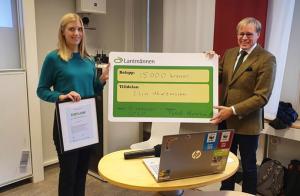 Lantmännens Från jord till bord-stipendium 2020 går till Elin Martinsson